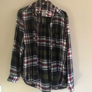 american eagle soft boyfriend flannel